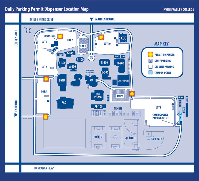 Irvine campus map